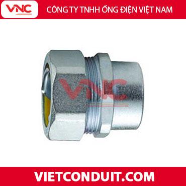 Đầu nối ống ruột gà lõi thép với ống luồn dây điện ren