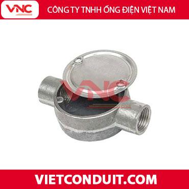 Hộp nối ống thép luồn dây điện 2 ngã - Vietconduit.com