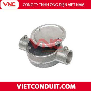 Hộp nối ống thép luồn dây điện 2 ngã trơn - VIETCONDUIT.COM