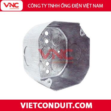 Hộp thép bát giác âm tường có đáy Vietconduit