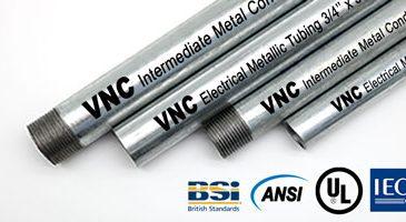Ống thép luồn dây điện Vietconduit sản xuất theo tiêu chuẩn UL-ANSI-IEC-BS-JIS.